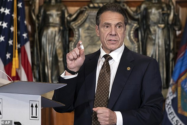 The investigations into Hunter complicated the attorney general pick for Joe Biden, who is now said to be considering New York Governor Andrew Cuomo (above) for the job