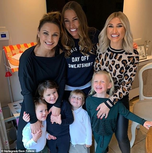 Family: Sam shares two children, Paul, five, and Rosie, three, with her husband Paul. While Billie and her husband Greg Shepherd share two children Nelly, six, and Arthur, three