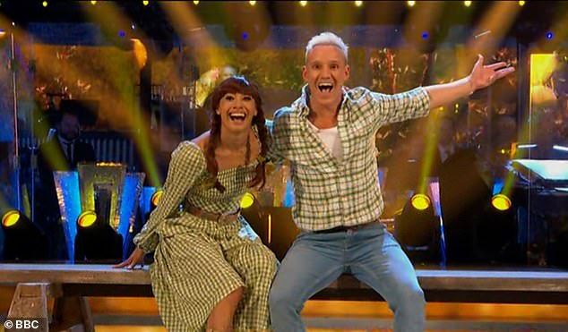 And again!Consistency was certainly the word for the pair on the night as their second dance - a Quickstep to Thank God I'm A Country Boy by John Denver - also earned them 24 points