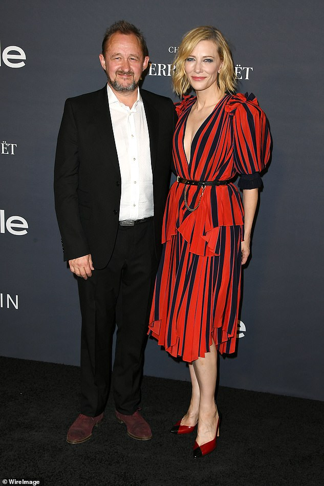 English charm: Cate and husband Andrew Upton, 54, (left) splashed a cool $6.25million on their lavish English manor named Highwell House in 2016
