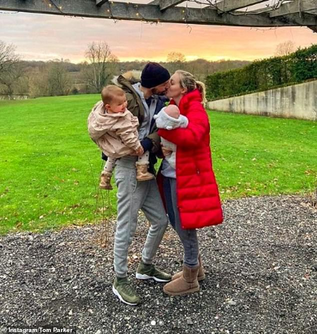 Happy anniversary:Tom Parker has shared a touching tribute to his wife Kelsey Hardwick as they celebrated 11 years together on Saturday amid his terminal cancer battle