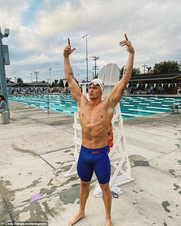 Achievement: Australian singerCody Simpson [pictured] has revealed he has qualified for the 2021 Olympic Games trials following his split from Miley Cyrus earlier this year