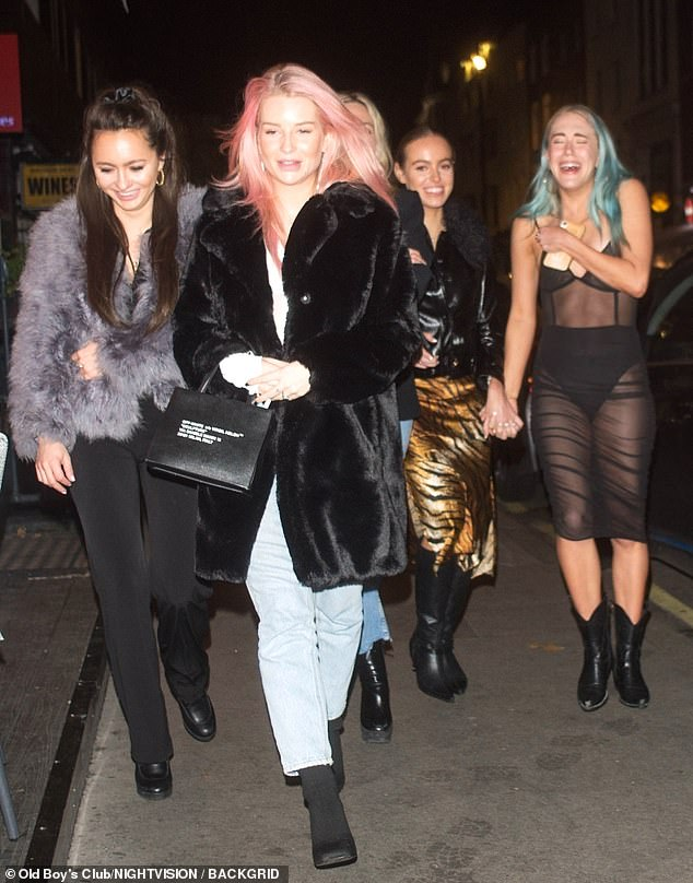 Casually cool: The 22-year-old beauty, sister of supermodel Kate Moss, turned heads as she stepped out in a fluffy black coat, which she teamed with jeans and black boots