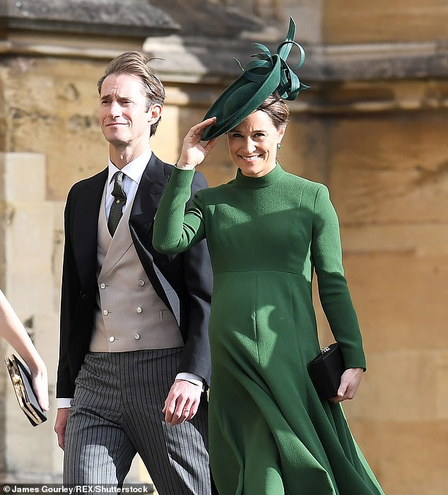 Pippa Middleton is 'pregnant with her second child'. The sister of Kate Middleton, 37, is 'thrilled' to be expecting with her husband James Matthews, a source close to the family told Page Six . She is pictured with husband James at the Wedding of Princess Eugenie and Jack Brooksbank in 2018
