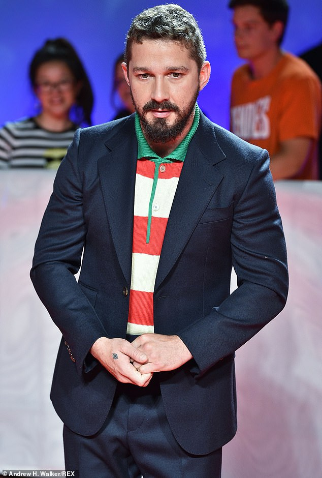 Premiere: LaBeouf is pictured on the red carpet for Honey Boy at the Toronto International Film Festival in 2019