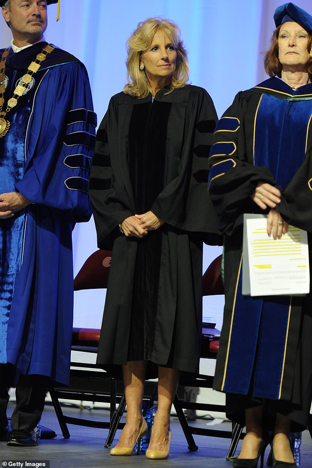 Jill Biden gives the commencement speech at Borward College on May 4, 2012 in Fort Lauderdale, Florida
