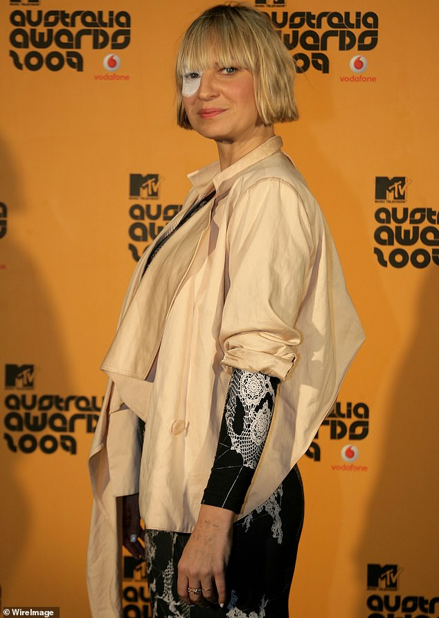 Using her voice: Sia (pictured in 2009) tweeted her support on Saturday for British singer FKA twigs, 32, who is suing actor Shia LaBeouf, 34,  for sexual battery, assault and infliction of emotional distress during their relationship