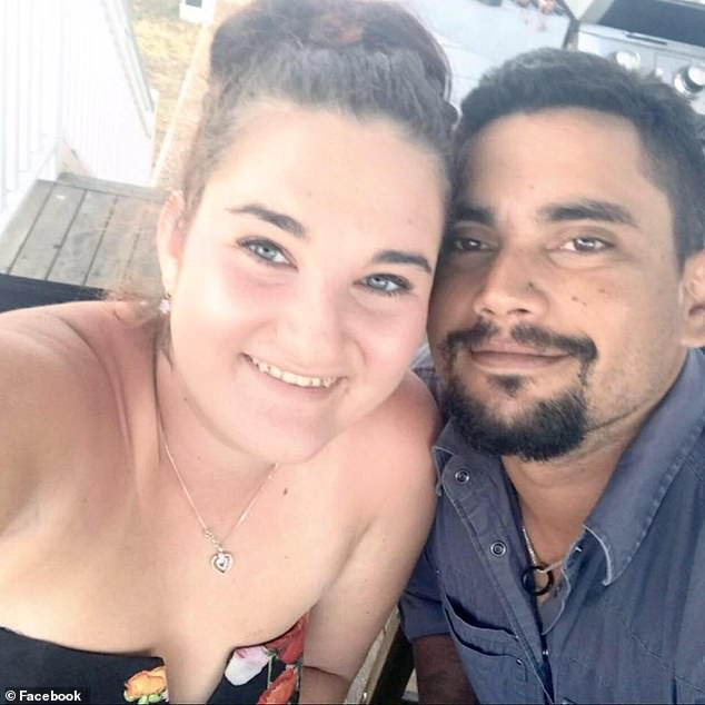 Jessa Bryen, 22 (pictured, with her partner), had been looking for four months for a new home in Townsville, on Queensland's north coast