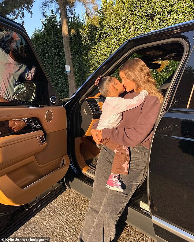 Mom's Homework: Kylie has her own child, Stormi, her two-year-old daughter, whom she welcomed in 2018 with handsome Travis Scott, 28;  Stormi and Kylie pictured