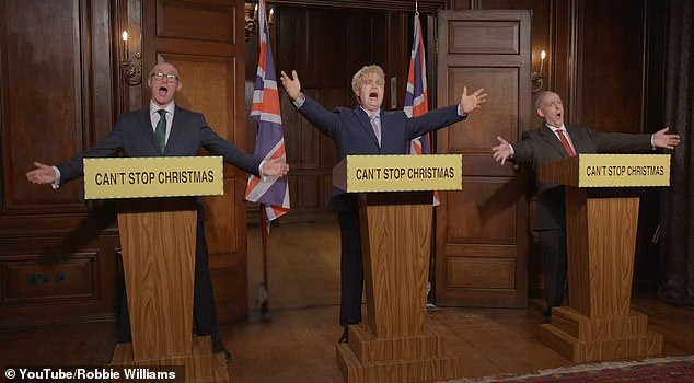 When in doubt... dance it out! The video ended with the PM and his advisers launching into an impromptu, clearly thrilled to celebrate Christmas after such a challenging year