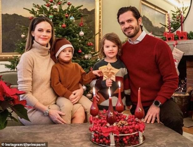 Growing family!  Prince Carl Philip of Sweden and his wife, Princess Sofia, have announced that they have had a third child.  The couple already had two children, Prince Alexander, four, and Prince Gabriel, three.  They shared this family photo after announcing the news.