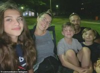 Steve 'Commando' Willis shares a rare snap of himself with four of his children from three exes