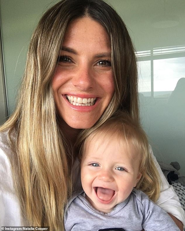 Claim to fame: The Perth-born journalist (pictured with her son, Ezra) is perhaps best known for being Today's roving weather reporter, a position now held by Tim Davies