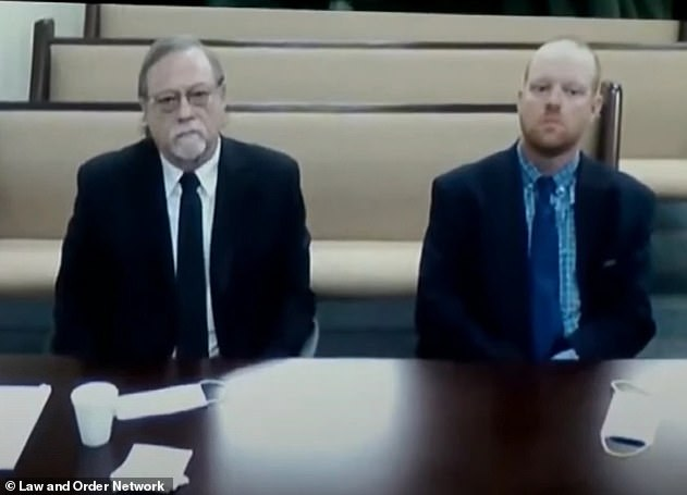 Gregory (left) and Travis (right) were denied bond after a hearing last month (pictured)