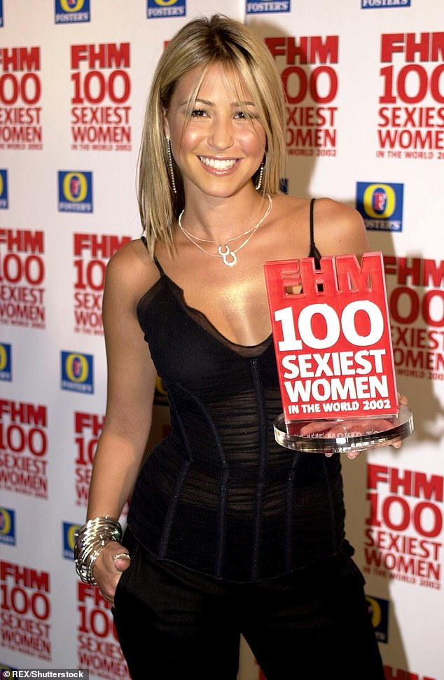 Is it any wonder? Rachel appeared on FHM magazine's 100 Sexiest Women list 11 times - pictured with her award in 2002
