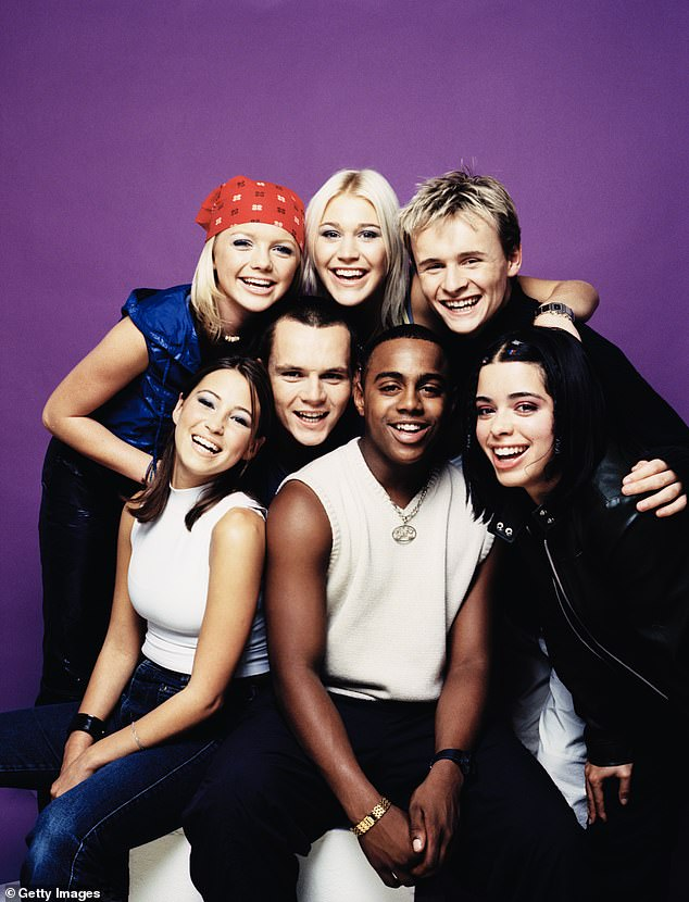 Success story! Rachel became a household name as a member of pop band S Club 7 (bottom left)