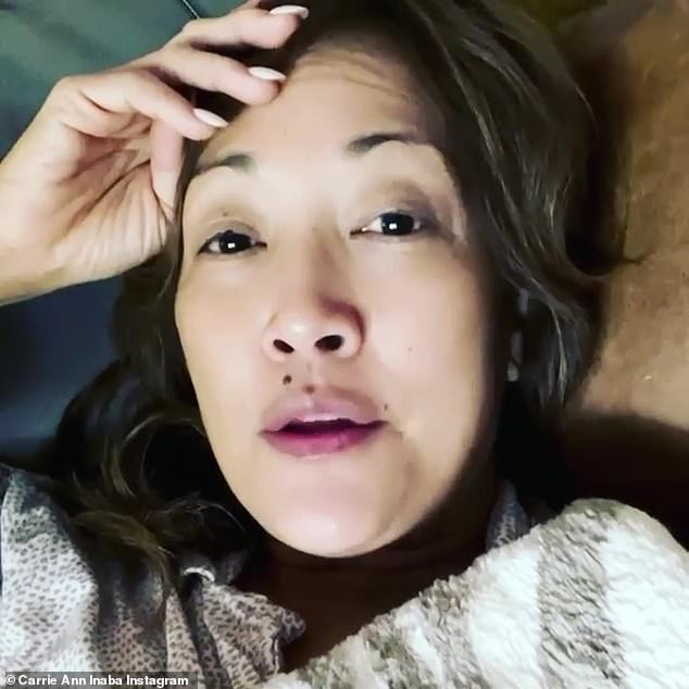 Test positive: One of her program co-hosts, Carrie Ann Inaba, said earlier in December that she tested positive in an Instagram post, saying she suffered from 'a lot of aches and pains ''