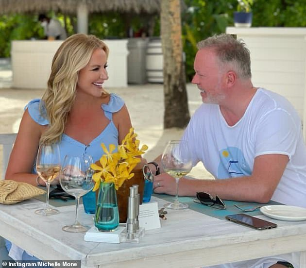 Oh dear... Michelle was branded 'out of touch' for posting 'distasteful' pictures of her sunning herself at a five-star Maldives resort - as the UK areas remain in Tier 3
