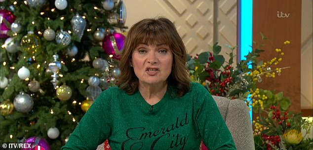 'We'll reap the whirlwind in the new year': Lorraine Kelly has admitted she believes easing coronavirus restrictions for Christmas would be 'crazy'