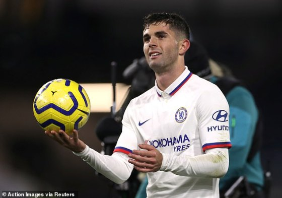 The highlight of Pulisic's first season at Chelsea came when he scored a hat-trick at Burnley