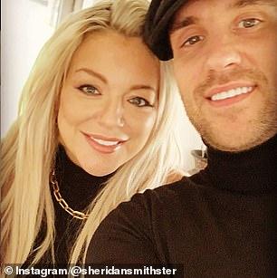 With her partner Jamie Horn