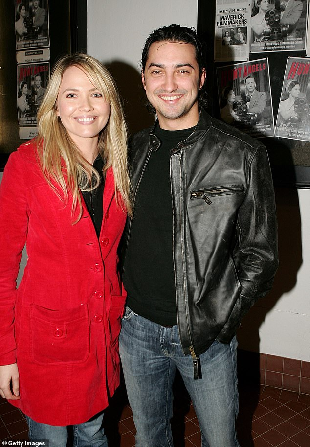 Still friends: Lara has remained in contact with several of her co-stars, including her on-screen love interest Callan Mulvey (Bogdan Drazic). Pictured withactor and directorDanny Raco