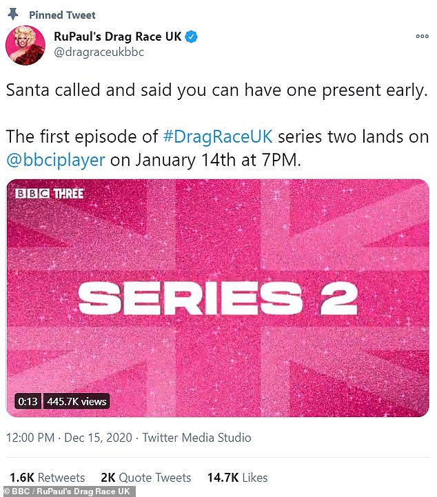 'Santa called and said you can have one present early!'In a tweet shared earlier this month, BBC confirmed the popular show will start from January 14 at 7PM, available to watch on iPlayer