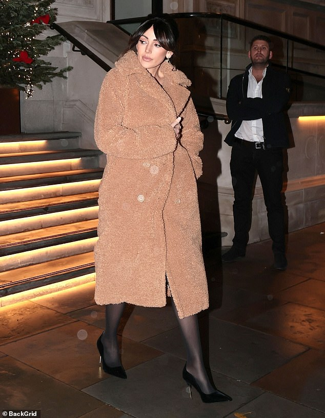 Chic in the city:They squeezed in a romantic weekend before Tier 3 restrictions came in and Michelle Keegan put on a chic display as she left the Corintha Hotel in London on Sunday