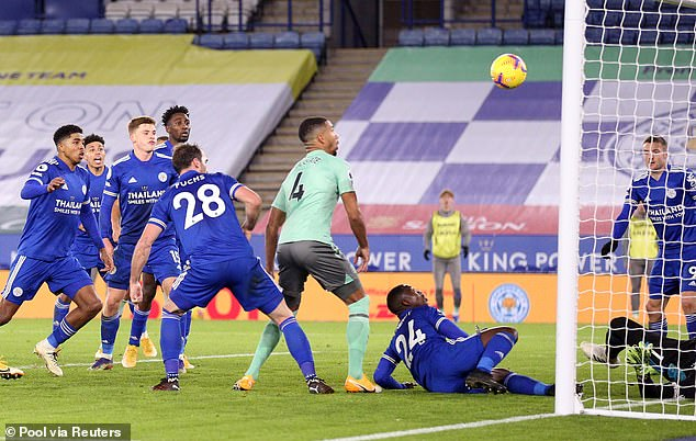 Defender Mason Holgate scored the second goal from close range against Leicester