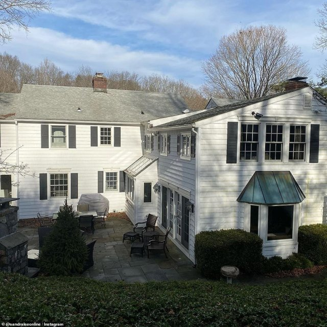 Lee purchased the white colonial style home in 2008. The house went for sale in May 2019 for $2million and was sold in October 2020 for $1.85million