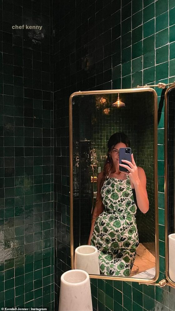 Cooking: Kendall calls herself 'Chef Kenny' in a trap on Her Stories on Wednesday