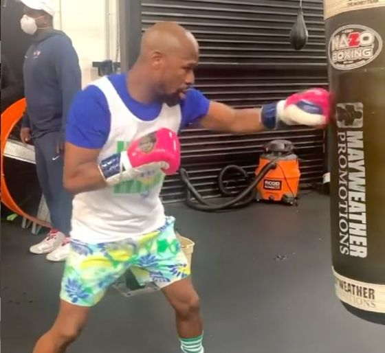 The 50-0 welterweight will train the ** off for the show shop on Feb. 20