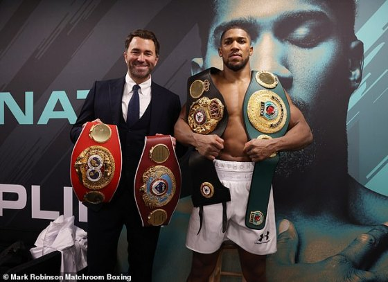 Eddie Hearn admitted Anthony Joshua could release his world titles to secure Tyson Fury fight