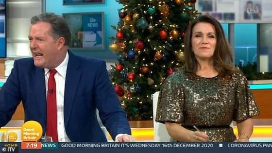 He is furious!  Piers poked fun at Tom Cruise's X-rated tirade on Wednesday when he broke into the Good Morning Britain crew