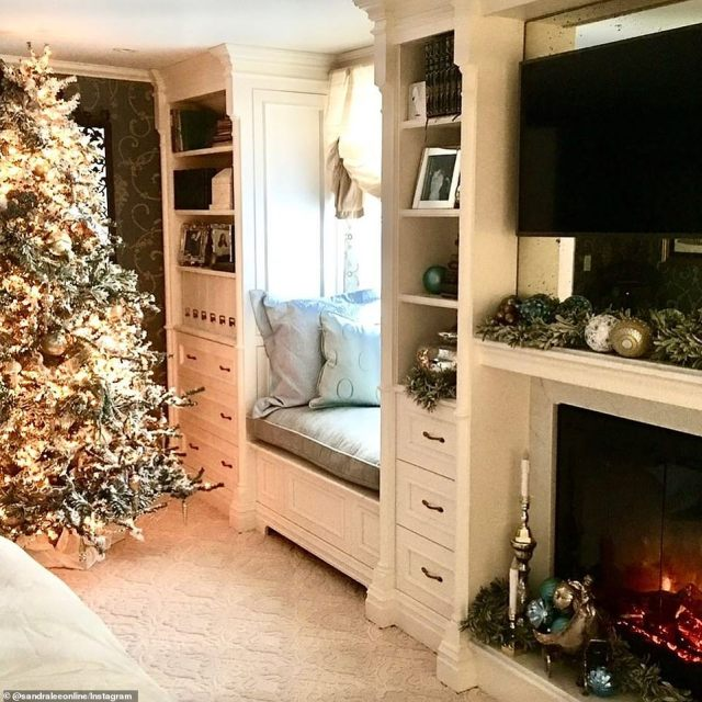 Walking down memory lane: Lee shared several snaps of her home decked out in festive holiday decorations over the past years on Wednesday