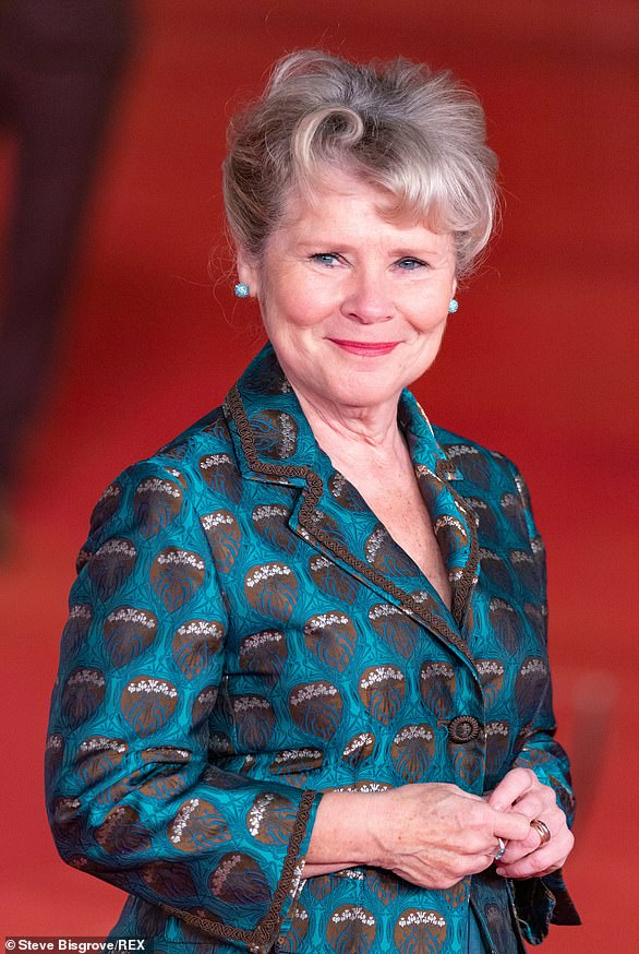 Imelda Staunton, pictured in October 2019, has launched a campaign to have theatres stop their patrons from eating noisy sweets and crisps during performances. It earned her a 'Special Contribution to Etiquette' award