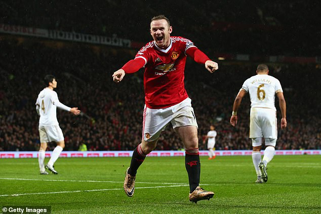 Rooney is United's all-time leading goalscorer with an incredible 253 strikes to his name
