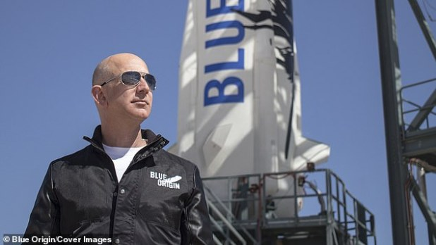 The announcement allows the US space agency to place orders with Blue Origin starting in late 2027, beginning in June 2025.  Jeff Bezos (pictured)