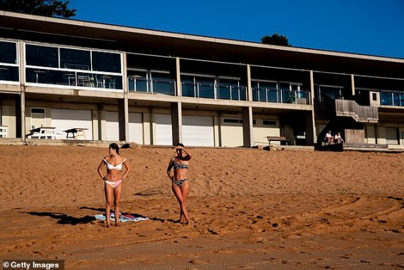 The latest Covid outbreak in Sydney's Northern Beaches has a lot in common with the original pandemic flare-up in Bondi. Pictured are women at Avalon Beach on December 18, 2020
