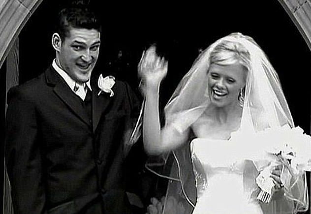 Weeding day: Brendan split from his wife Alex in 2006, after 14 months of marriage. The couple are pictured at their wedding in 2005
