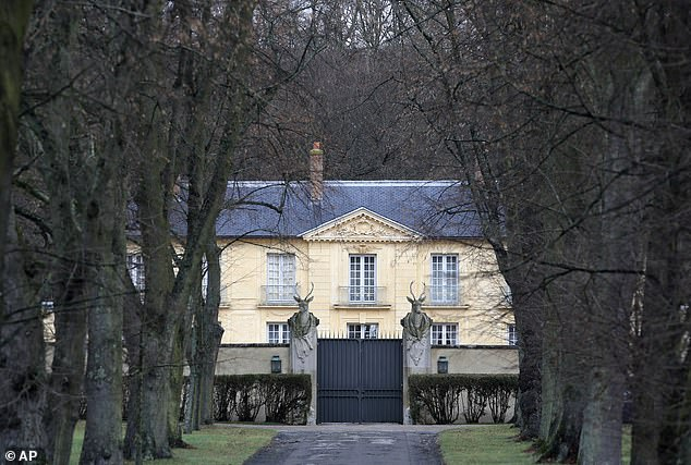 Macron, 42, is staying at a residence called La Lanterne (pictured) in Versailles and suffers from fever, cough and fatigue, he emerged today