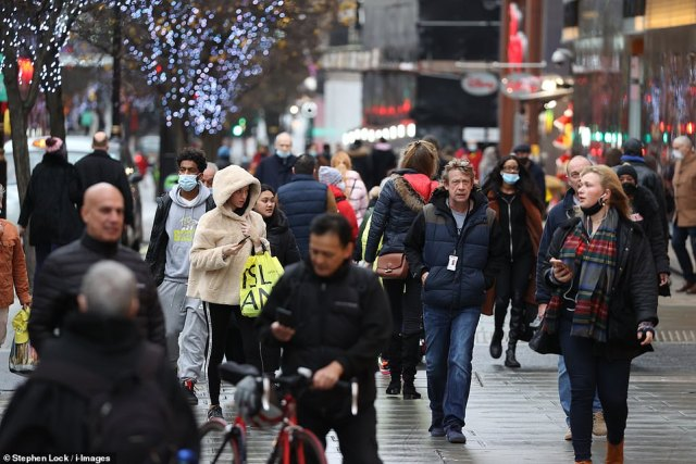 Shoppers got into the festive spirit in London, Liverpool, Newcastle and other UK towns and cities with every Briton expected to spend £480 on presents this year