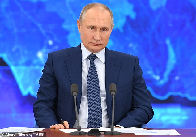Denial: Russia's president Vladimir Putin's government has said it is not behind the massive hack - but experts said its precision, cunning and expertise points directly to the Kremlin