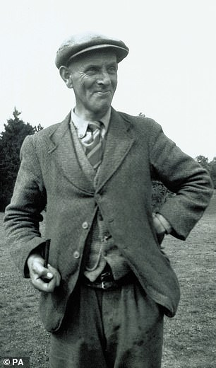 Find: It pays tribute to Basil Brown (pictured) the self-taught archaeologist discovered an Anglo-Saxon longboat at Sutton Hoo in Suffolk and a hoard of treasure