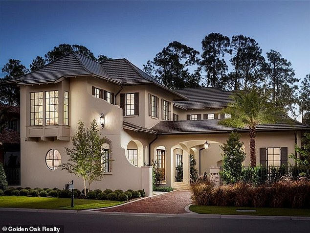 The Edwardes were reportedly planning to buy a$3.71million home in Disney World's Golden Oak resort (pictured) before they fled the country
