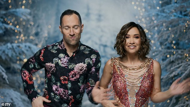 Fun: The former Hear'Say singer displayed some fun dance moves as she wowed in the video with pro partner Lukasz Rozycki
