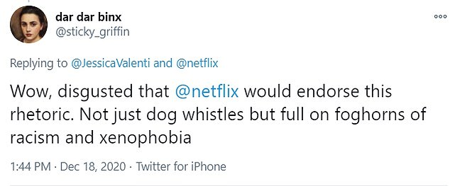 Some viewers took issue with Schulz's offensive humor and his irreverent commentary on the deadly virus, which he also refers to as the 'Asian parasite'