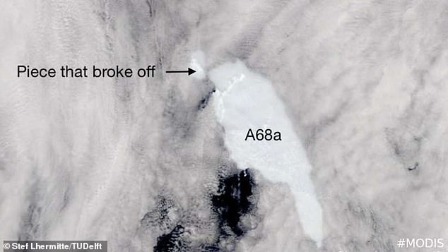 World's largest free-floating iceberg loses a 70 square miles chunk from its northernmost section