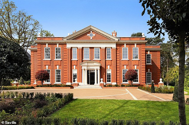 This six bedroom detached house on St George's Hill, Weybridge, Surrey is for sale at an indicative price of £ 14.5m