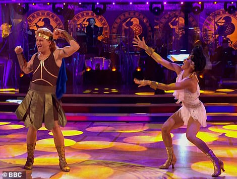Heroic! Jamie and Karen then took to the floor to dance their Hercules-themed Charleston to the track Zero to Hero